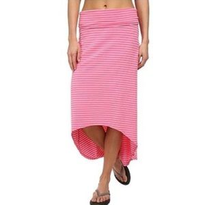 Columbia | Striped High Low Fold Over Skirt